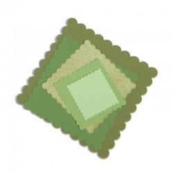 SIZZIX 657566 - QUADRATI CON CAPPETTE X 6
