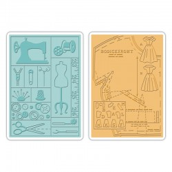 SIZZIX 659516 - CUCITO VINTAGE X 2