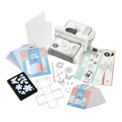 SIZZIX 661546 BIG SHOT PLUS WHITE & GRAY WITH STARTER KIT