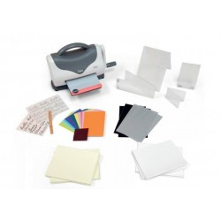 SIZZIX 661161 - TEXTURE BOUTIQUE EMBOSSING MACHINE CON BEGINNERS KIT