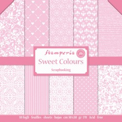 STAMPERIA - SWEET COLORS COLLECTION - 30 X 30 CM BLOCCO CARTE - ROSA