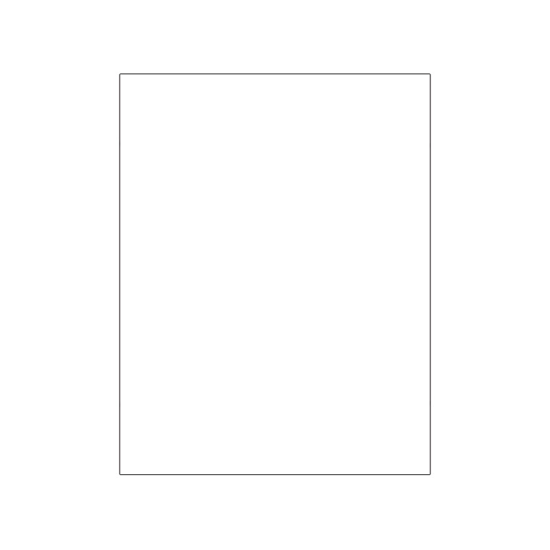 Foglio mousse monocolore bianco 40x60 cm - Foglio laminato bianco ...