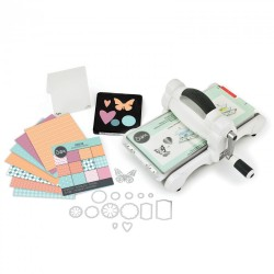 SIZZIX 669765 - BIG SHOT WHITE & GRAY + STARTER KIT