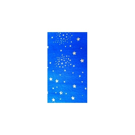 PANNOLENCI 30X40 CM SPESSORE 1MM BLU STELLE GLITTER ORO