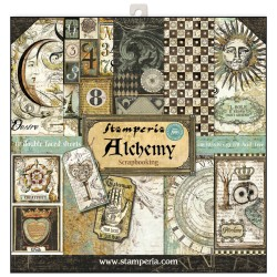 BLOCCO CARTE 10 FOGLI DOUBLE FACE ALCHEMY - 30.5 X 30.5 CM STAMPERIA