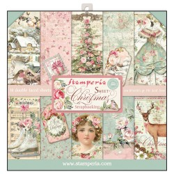 BLOCCO CARTE 10 FOGLI DOUBLE FACE SWEET CHRISTMAS - 30.5 X 30.5 CM STAMPERIA