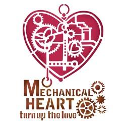 STENCIL D - MECHANICAL HEART 20 x 15 CM - STAMPERIA