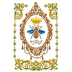 STENCIL G QUEEN BEE-  21 x 29,5 CM - STAMPERIA