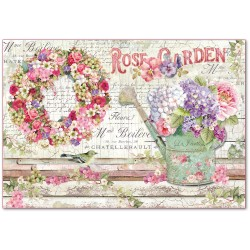 CARTA RISO 48 x 33 ROSE GARDEN - STAMPERIA