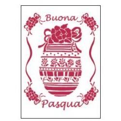 STENCIL G BUONA PASQUA  21 x 29,5 CM - STAMPERIA