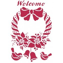 STENCIL G WELCOME 21 x 29,5 CM - STAMPERIA
