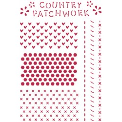 STENCIL G COUNTRY PATCHWORK 21 x 29,5 CM - STAMPERIA