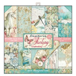 BLOCCO CARTE 10 FOGLI DOUBLE FACE WONDERLAND - 30.5 X 30.5 CM STAMPERIA