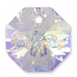 Ottagono Swarovski 8115 Aurora boreale 1 foro mm. 20 x 2 pzz