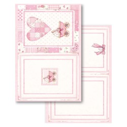 BLOCCO CARTE 24 FOGLI DOUBLE FACE  - 11,4x16,5 BABY GIRL STAMPERIA