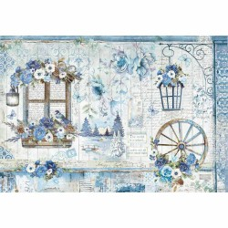 CARTA RISO 48 x 33 BLUE LAND - STAMPERIA