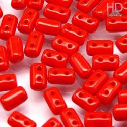 PERLINE RULLA 3X5 MM 2 FORI OPAQUE RED CORAL - 10gr