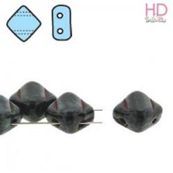 SILKY BEAD DIAMOND 5X5mm JET PICASSO x 40pz