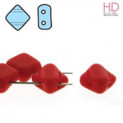 SILKY BEAD DIAMOND 5X5mm OPAQUE RED x 40pz