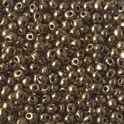 DROP BEADS 3,4 mm METALLIC DARK BRONZE  x 10gr