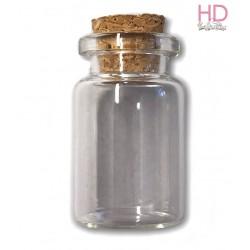Bottiglia di vetro a ciondolo 4cm x 1pz