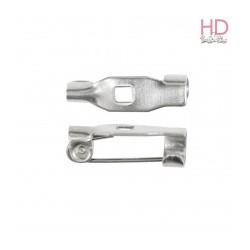 Spille c/barretta da cucire argento lung. 1,5cm x 8pz