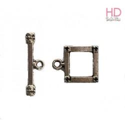 Chiusura T-bar col. Argento 20 mm x 4pz