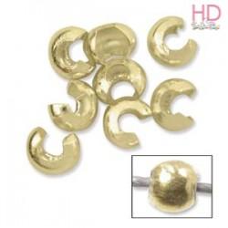 Conchiglia copri schiaccini per bijoux oro x 10pz