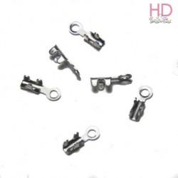 Terminali per catena cobra argento 7mm x 20pz