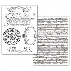 CONF. 2 FOGLI A4 CARTA TRANSFER MUSICA