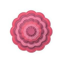 SPELLBINDERS 9454-781 - SCALLOPED CIRCLES - 3-10,5CM - 7PZ