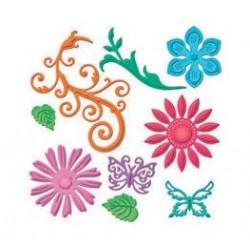 SPELLBINDERS 9454-911 JEWEL FLOWERS - 1,6-8CM - 9PZ