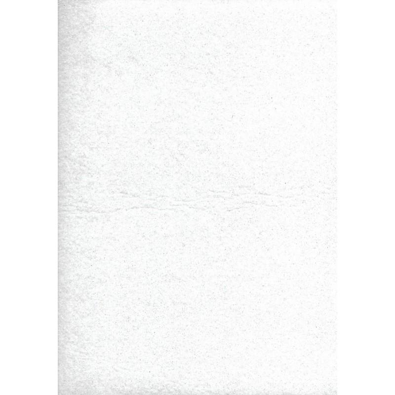 Pannolenci 30x40cm Spessore 1mm Bianco Glitterato Argento