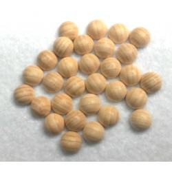 Mezze sfere di legno grezzo 10mm  30pzz