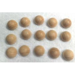 Mezze sfere di legno grezzo 15mm 15pzz