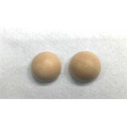 Mezze sfere di legno grezzo 30mm  4pzz