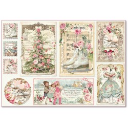 CARTA RISO 48 x 33 SWEET CHRISTMAS CARTOLINE - STAMPERIA