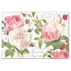 CARTA RISO 48 x 33 ROSA VINTAGE - STAMPERIA