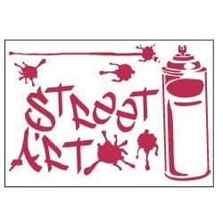STENCIL G STREET ART 21 x 29,5 CM - STAMPERIA