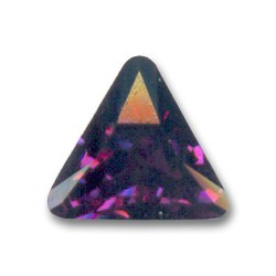 Triangolo Cabochone  4722 10mm Amethyst Foiled x 1pz