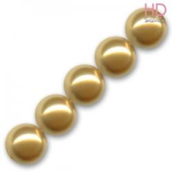 PERLE SWAROVSKI 5810 8 MM BRIGHT GOLD PEARL X 10pz