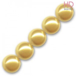 PERLE SWAROVSKI 5810 10 MM GOLD PEARL X 6 pz
