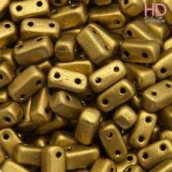 PERLINE BRICKS 3X6 MM 2 FORI - MATTE AZTEC GOLD 50PZ