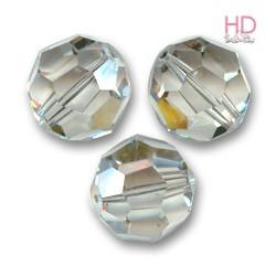 SFERE SWAROVSKI 5000 4mm Crystal Silver Shade x 10pzz
