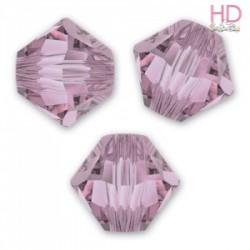 BICONO SWAROVSKI 5328 4mm Crystal Antique Pink x 25pzz