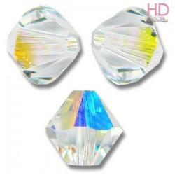 BICONO SWAROVSKI 5328 4mm Crystal Aurora Boreale x 25pzz