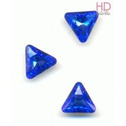 Triangolo Cabochon  4722  mm. 10 Sapphire Foiled 2 pzz