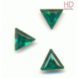 Triangolo Cabochone 4722 Emerald mm. 10  Foiled 2 pzz