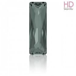 Cabochone Princess Baguette 4547 Black Diamond Foiled 15 x 5mm - 1pz