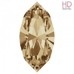 Cabochone Navetta 4200/2 Crystal Golden Shadow 15x7mm - 1pz
